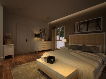 Phối cảnh phòng ngủ chính